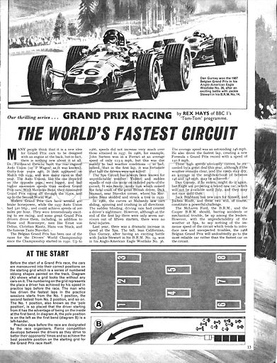 Grand Prix Racing: The World's Fastest Circuit -- The Spa Circuit in Belgium.
