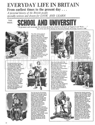 Everyday Life in Britain: School and University.