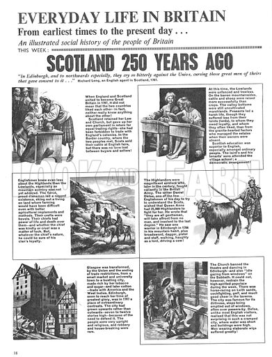 Everyday Life in Britain: Scotland 250 Years Ago.