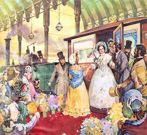 Famous Firsts: The Twelve O'Clock 'Special'. The introduction of the railway system was greeted with some suspicion by the public until, on 14 June 1842, Queen Victoria became the first reigning monarch to travel by train.