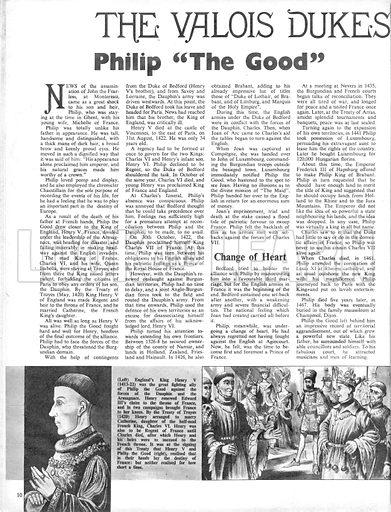 The Valois Dukes of Burgundy: Philip 'The Good'.