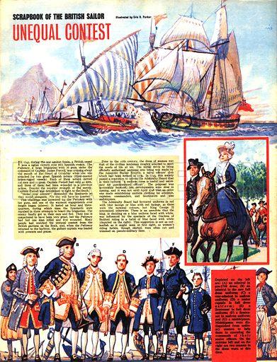 Scrapbook of the British Sailor: Unequal Contest.