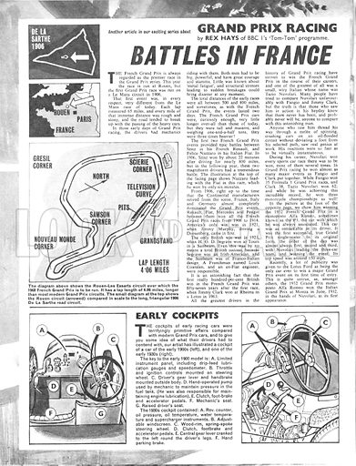 Grand Prix Racing: Battles in France.