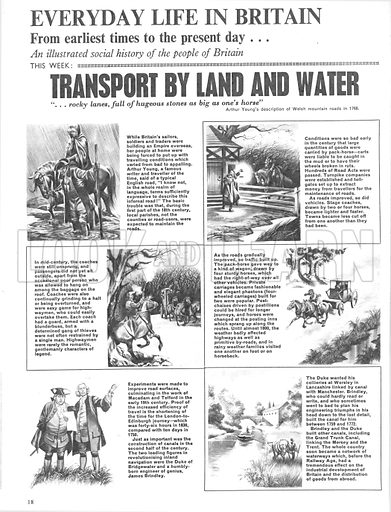 Everyday Life in Britain: Transport by Land and Water.