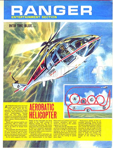 Into the Blue: Aerobatic Helicopter.