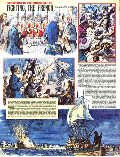 Scrapbook of the British Sailor: Fighting the French.