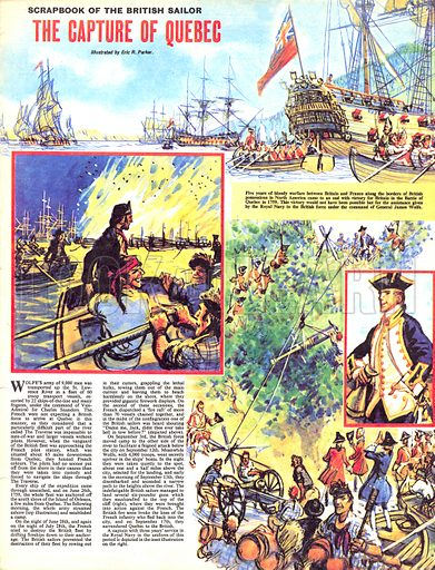 Scrapbook of the British Sailor: The Capture of Quebec.