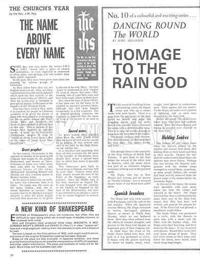 Dancing Round the World: Homage to the Rain God.