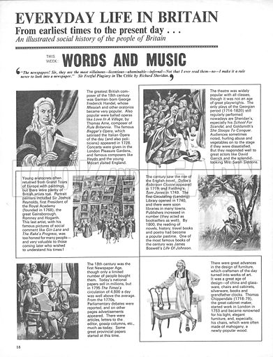 Everyday Life in Britain: Words and Music.