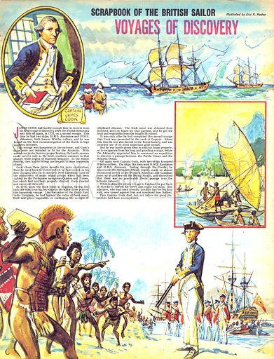 Scrapbook of the British Sailor: Voyages of Discovery.