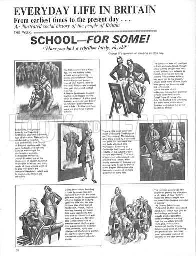 Everyday Life in Britain: School -- for some!.