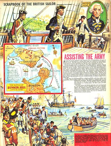 Scrapbook of the British Sailor: Assisting the Army.