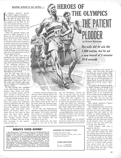 Heroes of the Olympics: The Patient Plodder.