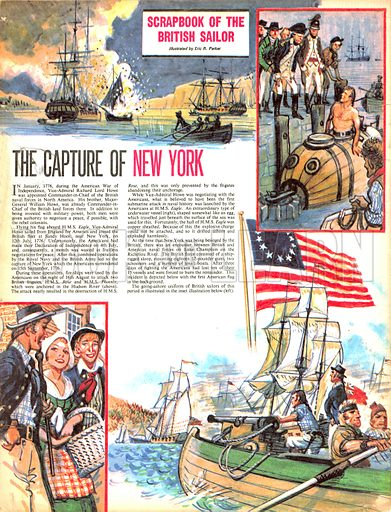 Scrapbook of the British Sailor: The Capture of New York.