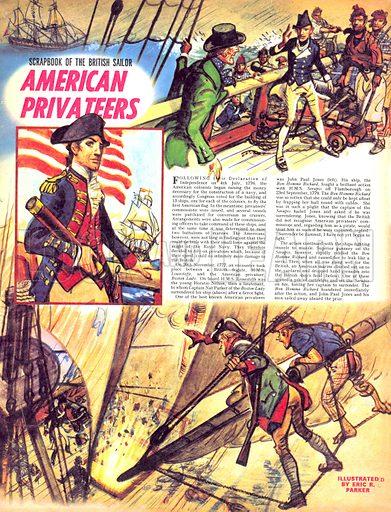 Scrapbook of the British Sailor: American Privateers.