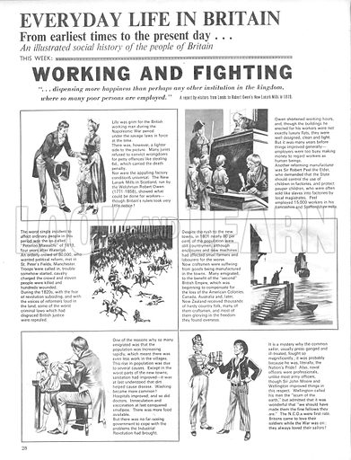 Everyday Life in Britain: Working and Fighting.