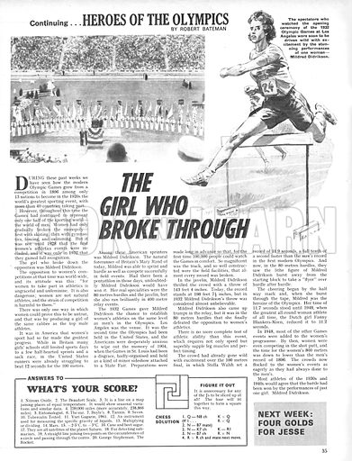 Heroes of the Olympics: The Girl Who Broke Through.