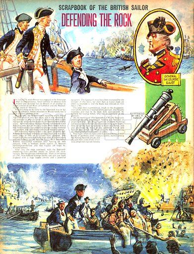 Scrapbook of the British Sailor: Defending the Rock.
