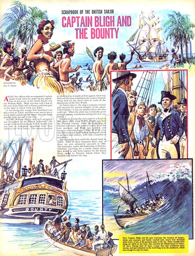 Scrapbook of the British Sailor: Captain Bligh and the Bounty.