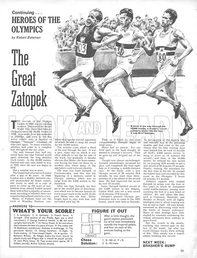 Heroes of the Olympics: The Great Zatopek.