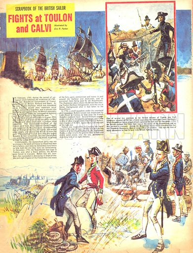 Scrapbook of the British Sailor: Fights at Toulon and Calvi.