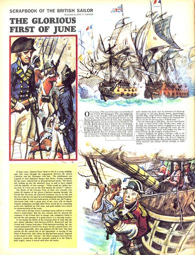 Scrapbook of the British Sailor: The Glorious First of June.