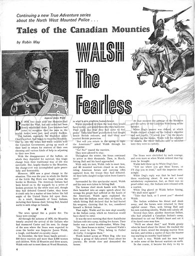Tales of the Canadian Mounties: Walsh the Fearless.
