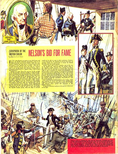 Scrapbook of the British Sailor: Nelson's Bid for Fame.