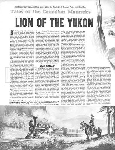 Tales of the Canadian Mounties: Lion of the Yukon.