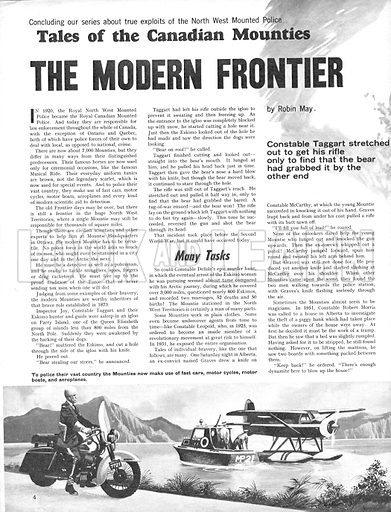 Tales of the Canadian Mounties: The Modern Frontier.