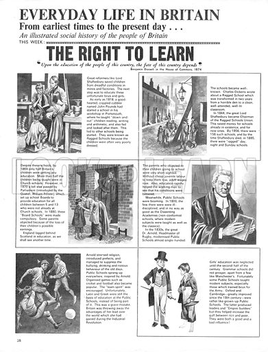 Everyday Life in Britain: The Right to Learn.