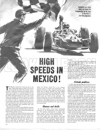 Grand Prix Racing: High Speeds in Mexico.