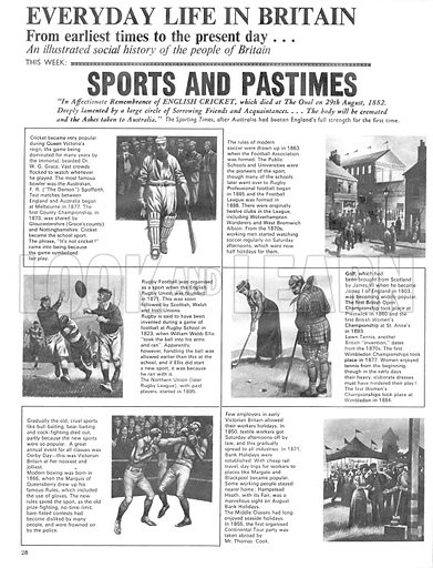 Everyday Life in Britain: Sports and Pastimes.