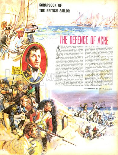 Scrapbook of the British Sailor: The Defence of Acre.