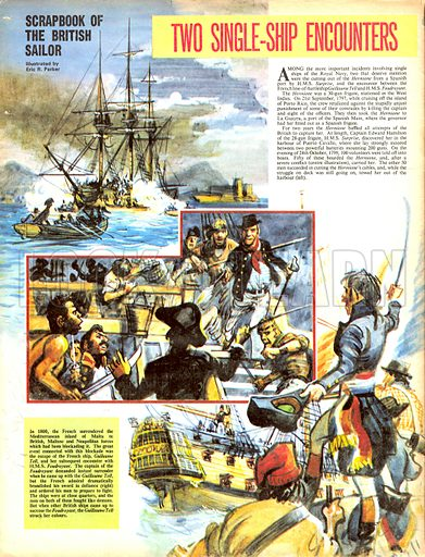 Scrapbook of the British Sailor: Two Single-Ship Encounters.