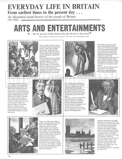 Everyday Life in Britain: Arts and Entertainments.