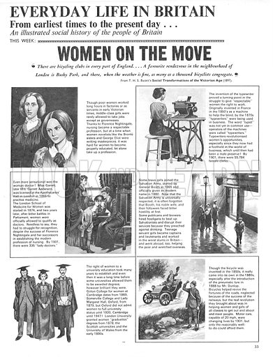 Everyday Life in Britain: Women on the Move.