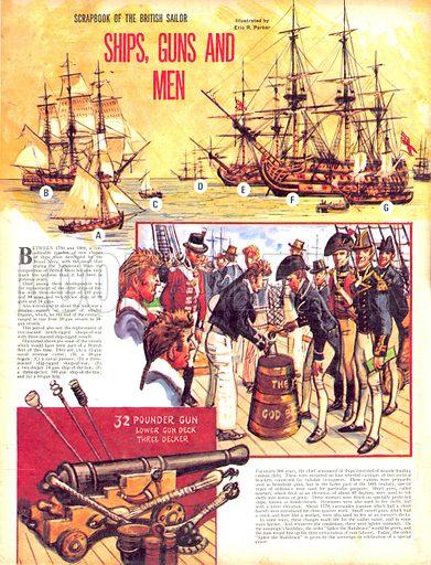 Scrapbook of the British Sailor: Ships, Guns and Men.
