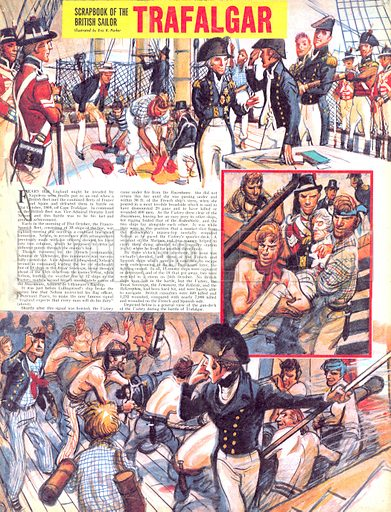 Scrapbook of the British Sailor: Trafalgar.