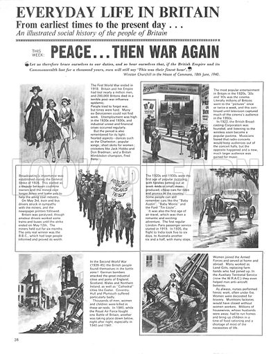 Everyday Life in Britain: Peace... Then War Again.