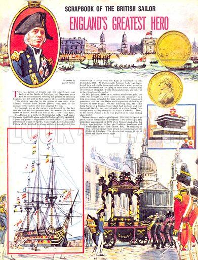 Scrapbook of the British Sailor: England's Greatest Hero.