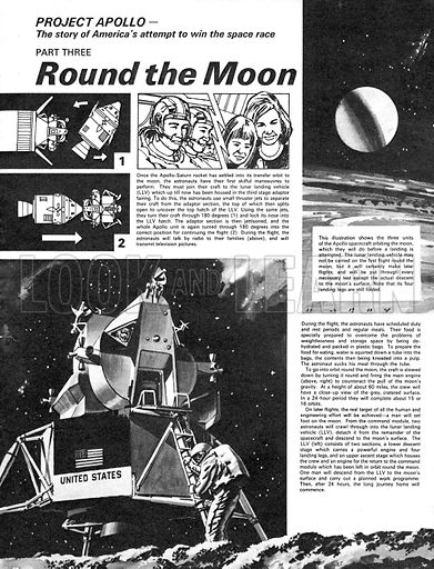 Project Apollo: Round the Moon. The story of America's attempt to win the space race.