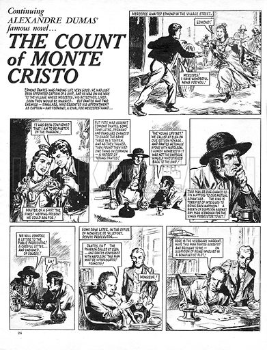 The Count of Monte Cristo, based on the novel by Alexandre Dumas.