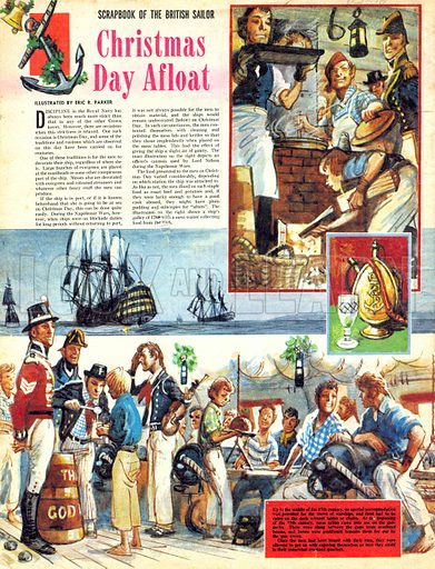 Scrapbook of the British Sailor: Christmas Day Afloat.