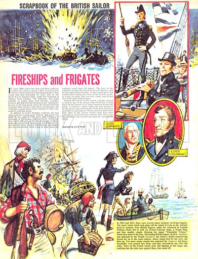 Scrapbook of the British Sailor: Fireships and Frigates.