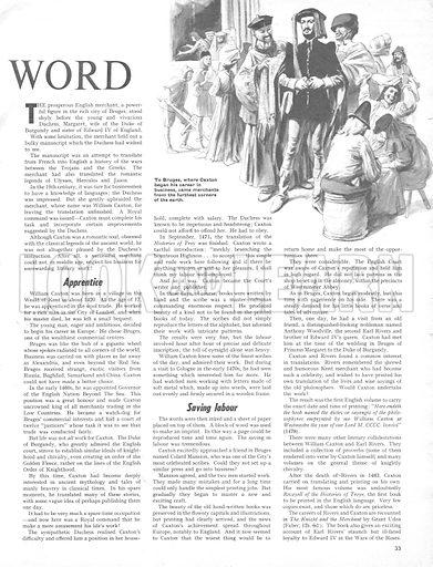 Pioneer of the Printed Word.