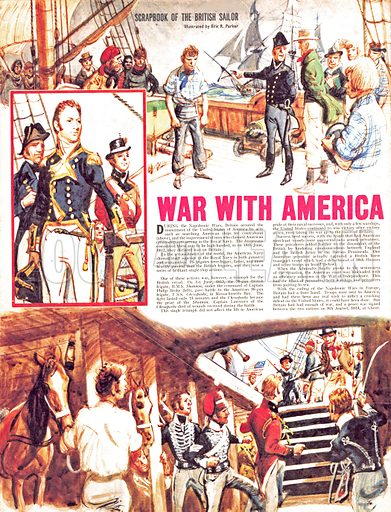 Scrapbook of the British Sailor: War With America.