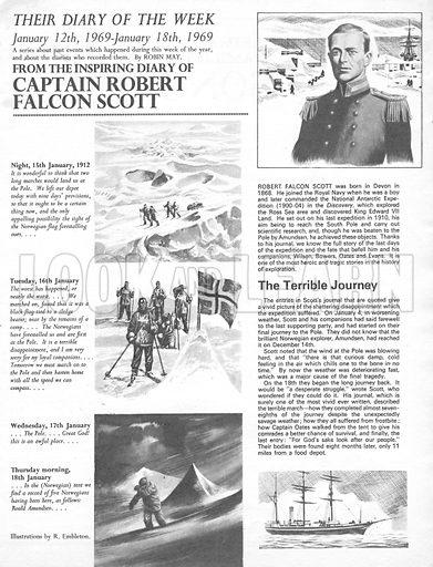 Their Diary of the Week: Captain Robert Falcon Scott.