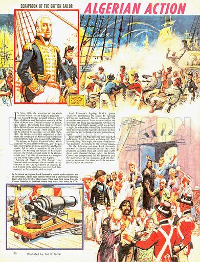 Scrapbook of the British Sailor: Algerian Action.