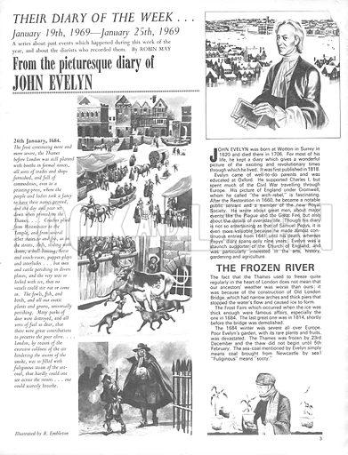 Their Diary of the Week: John Evelyn.